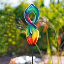 Glaskunst-Stecker Picasso Skulptur inkl Stab