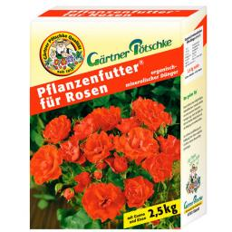 Gärtner Pötschke Pflanzenfutter für Rosen, 2,5 kg