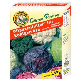Gärtner Pötschke Pflanzenfutter für Kohlgemüse, 2,5 kg
