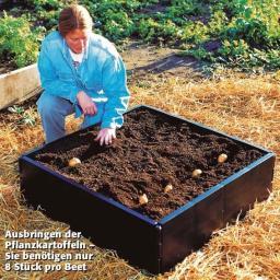 Kartoffel-Anzucht-Beet, Kunststoff, braun, 92x92x25 cm
