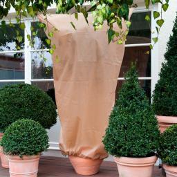 Kübelpflanzen-Sack, 2er-Set, 100x80 cm, Vlies, creme