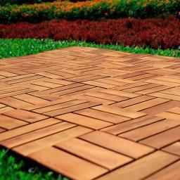 Holzfliesen Akazienholz, vorgeölt, 10 Stück, 0,9qm