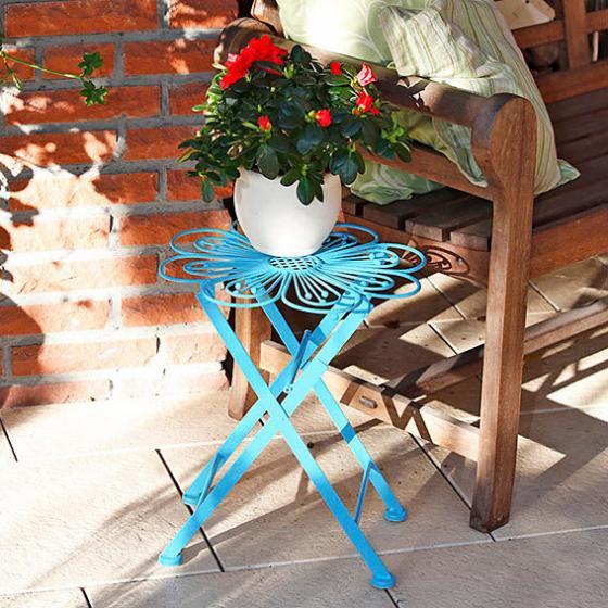 Blumentisch Colore Fleur blau