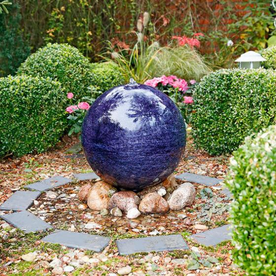 Kugelbrunnen Quelle des Glücks, mittel, 40 cm