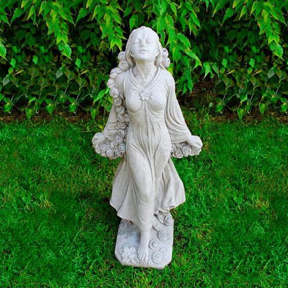 Gartenfigur Rosenmädchen