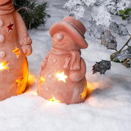 Terracotta-Schneemann Kläuschen