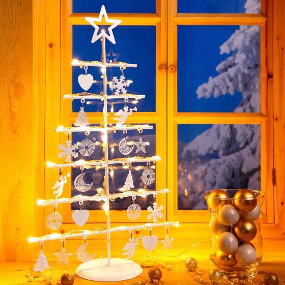 LED-Leuchttanne Weihnachtsglück