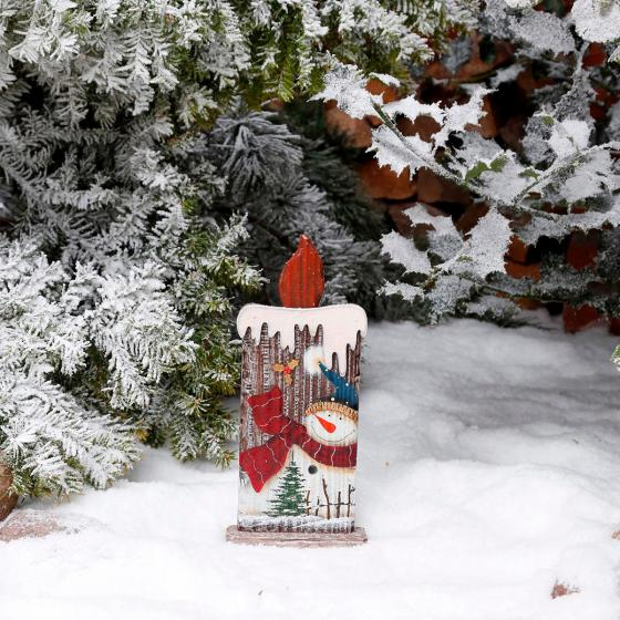 Deko-Kerze Winterfeuer, klein