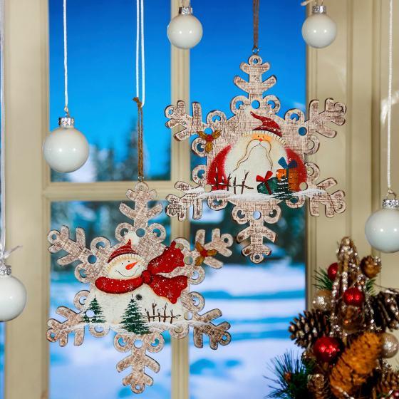 Fensterdeko schneeflocke 2er set von g rtner p tschke for Nostalgische weihnachtsdeko