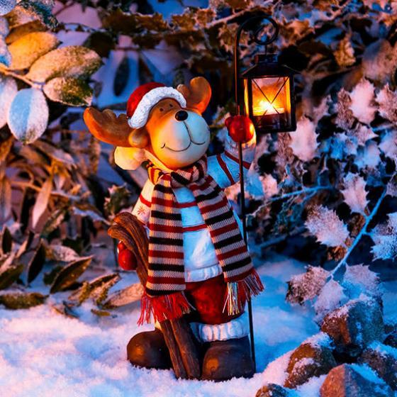 Winter-Rentier Rocco mit Laterne