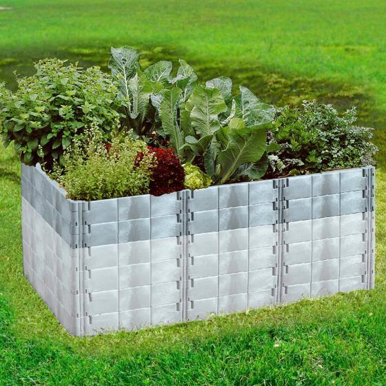 JUWEL Aufbausatz für Hochbeet Profiline Größe 2, basalt, 192x121x26 cm