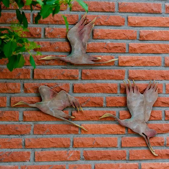Wanddekoration fliegende Kraniche