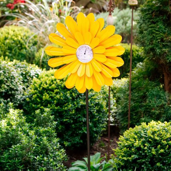 Gartenstecker Thermostat Sonnenblume