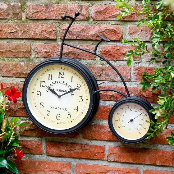 Wanduhr/ Thermometer Fahrrad