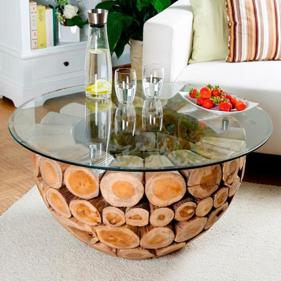 TEAK-Couchtisch Wood Design