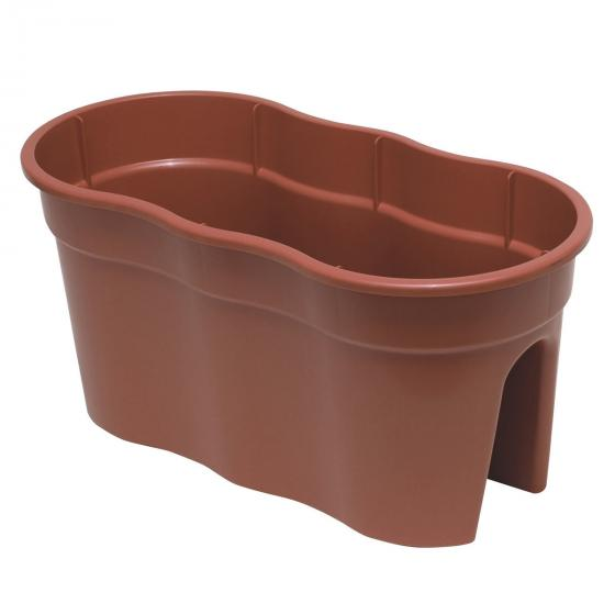 2er-Set Flowerclip XL, terracotta