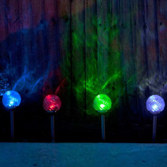 Solar-Stecklampe Colorion, 4er-Set