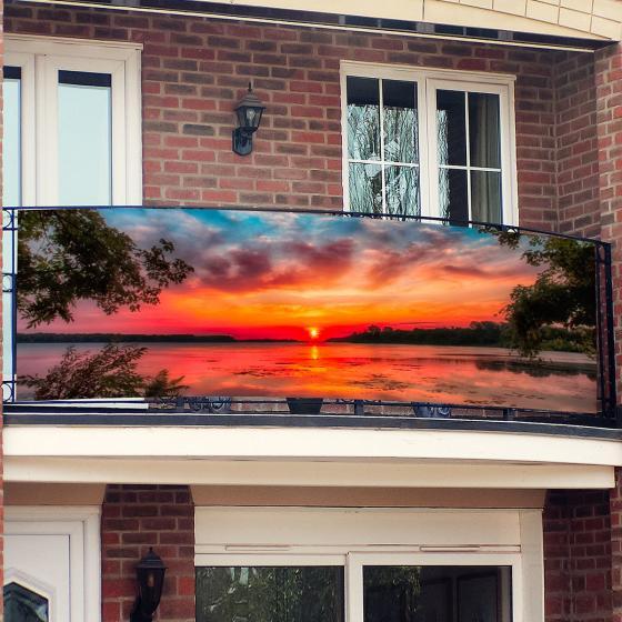 Balkon-Sichtschutz, Sunset