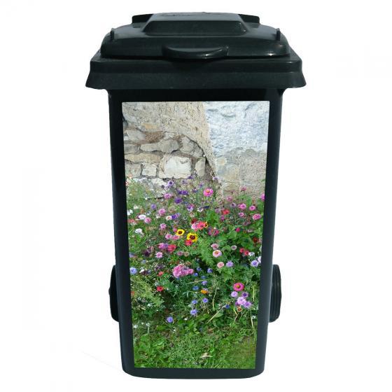 Mülltonnen-Aufkleber English Garden