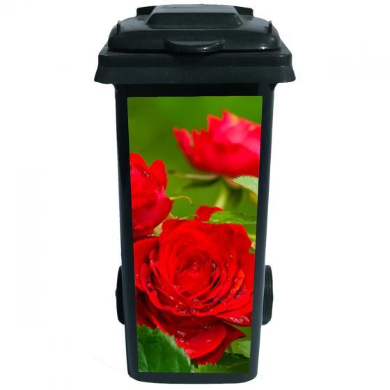 Mülltonnen-Aufkleber Rosen