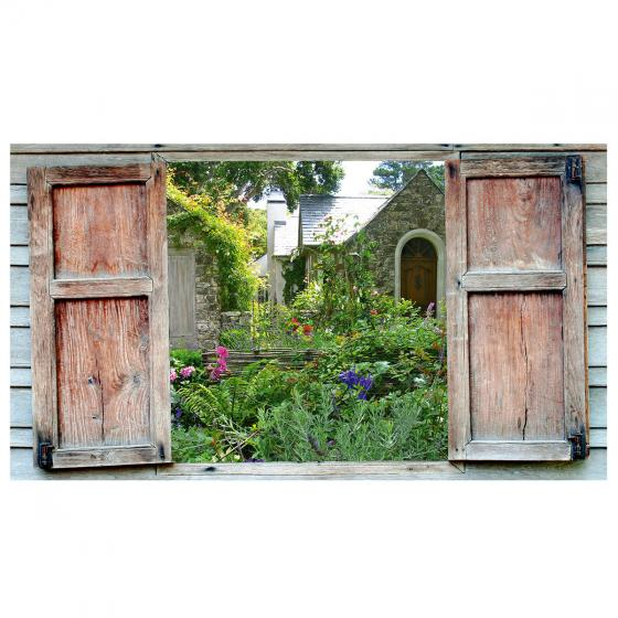 Gartengemälde Ausblick 130 x 70 cm