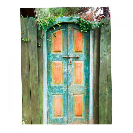 Gartenposter Holztür