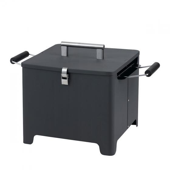 """Holzkohlengrill """"Cube"""" anthrazit"""