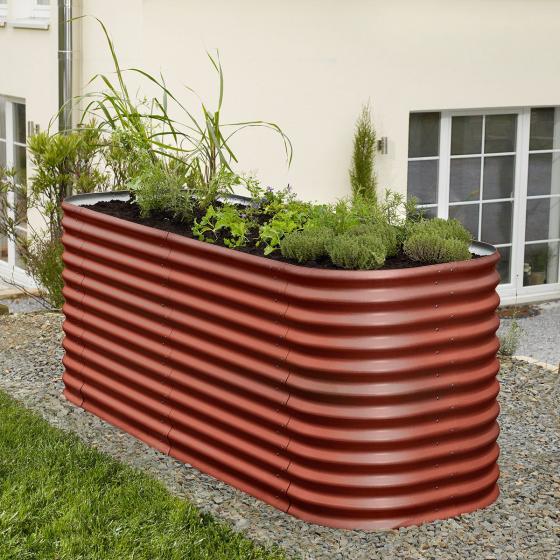Vitavia Hochbeet Erweiterung, Aluminium, rot, 80x86 cm