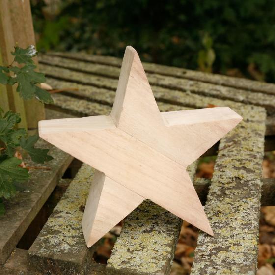 Holz-Stern Natürliche Weihnacht