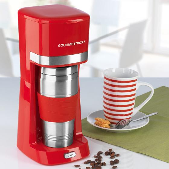 GOURMETmaxx Single-Kaffeemaschine rot