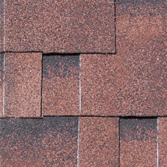 Dachschindeln Asymmetrisch, rot