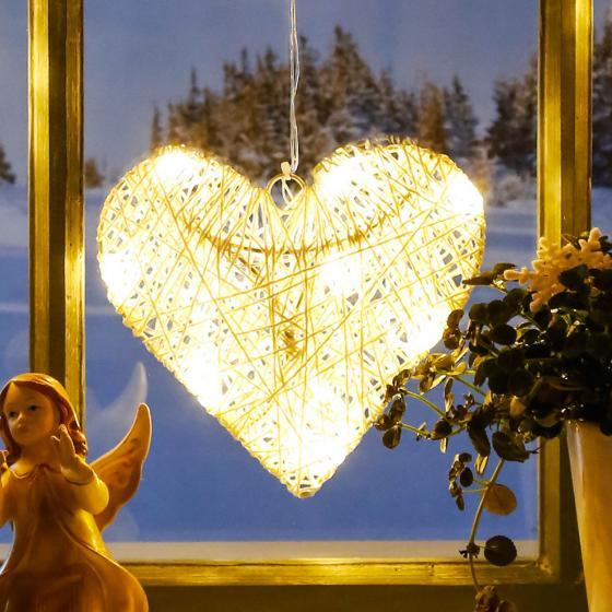 LED-Fensterdeko Winterherz