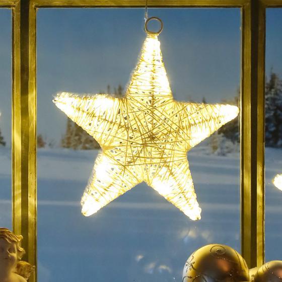 LED-Fensterdeko Sternenglück
