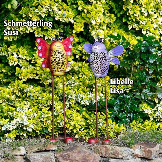 Solar-Gartenstecker Libelle Lisa