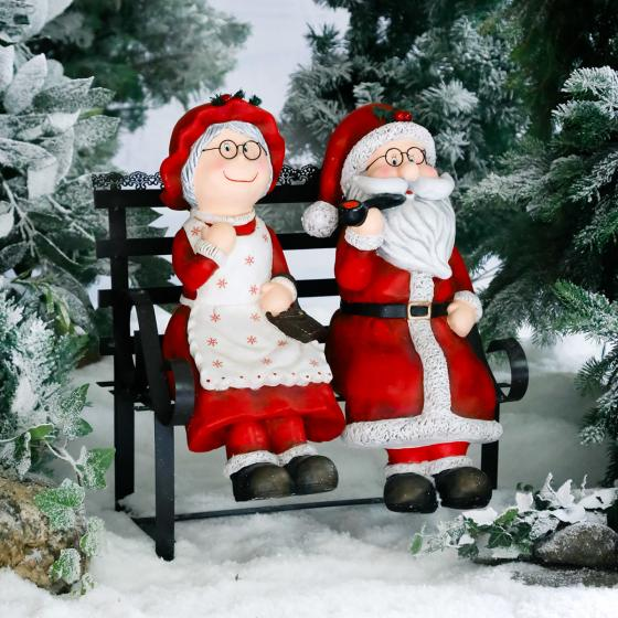 Mr. & Mrs. Santa mit Bank