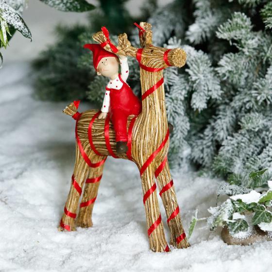 Weihnachtsfigur Julbock, groß