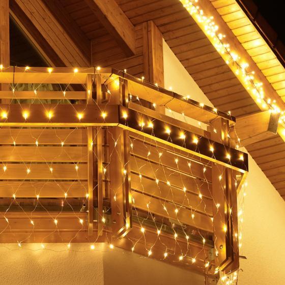 LED-Balkon-Lichternetz Winter Dream