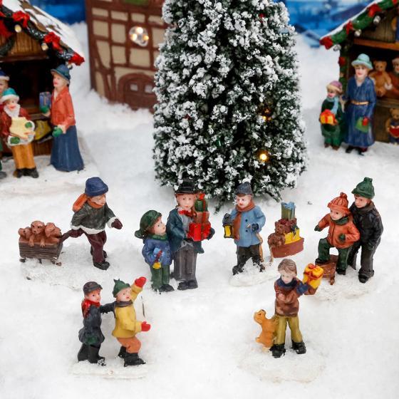Miniatur-Winterfiguren Schneespaß, 6er-Set