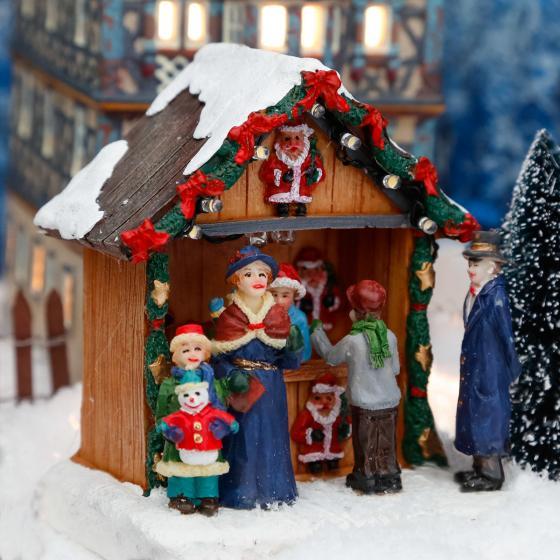 Miniatur-LED-Markt-Stand Weihnachtsdeko