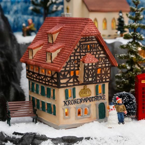 Miniatur-Lichthaus Kronen Apotheke
