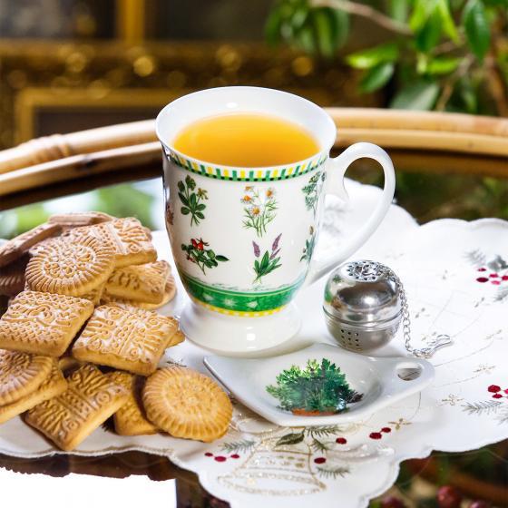 Tee-Gedeck Gartenkräuter