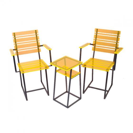 sunart® Acrylglas Leuchtmöbel, Gelb-Orange