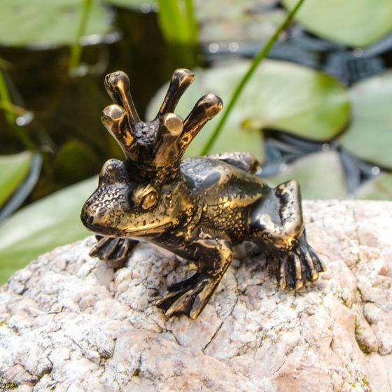 Bronze-Figur Froschkönig Heinrich