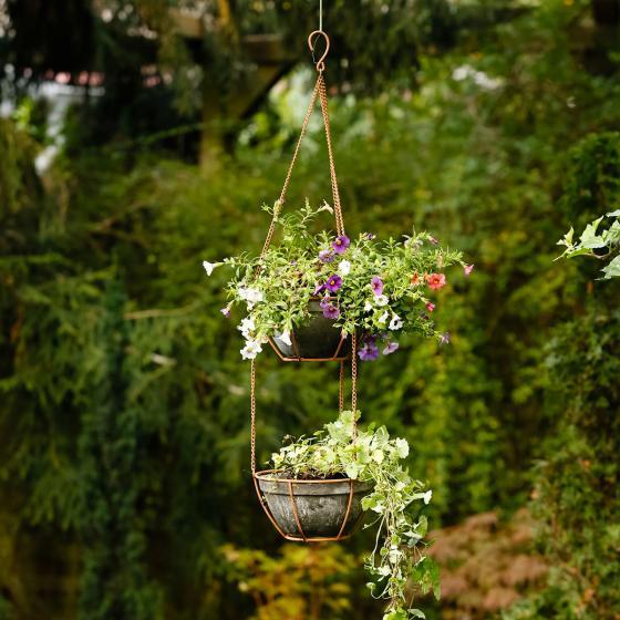 Blumenampel Fiore, mit 2 Pflanzschalen