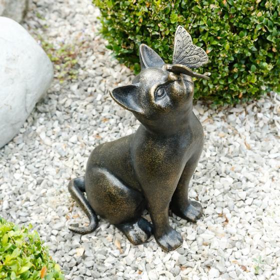 Deko-Figur Katze Fienchen mit Schmetterling