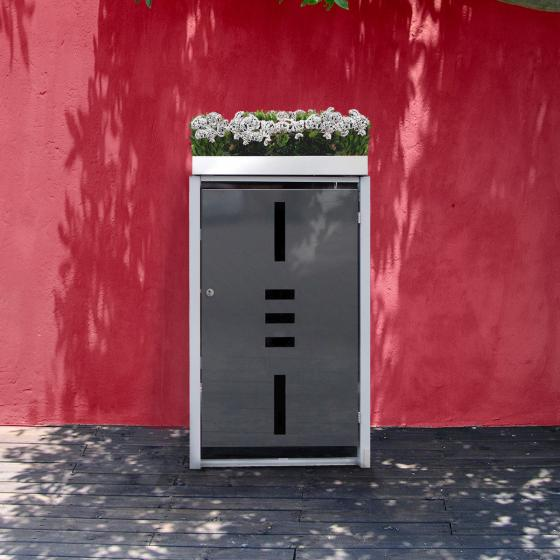 Mülltonnenbox, 1er mit Pflanzdach