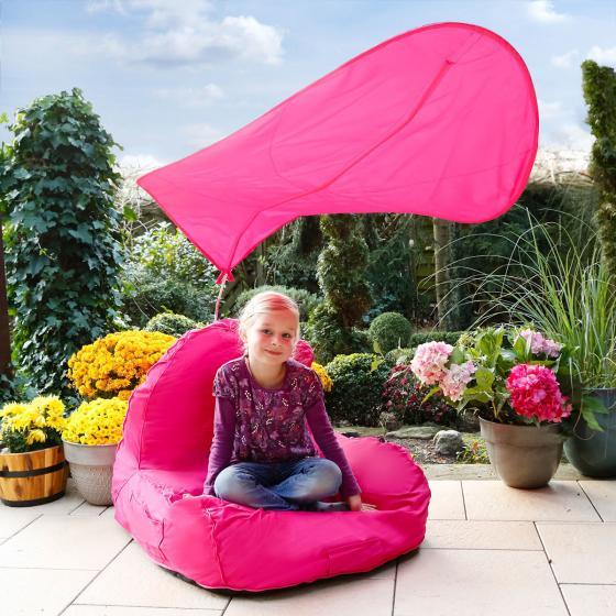 Sitzsack Flexi mit Sonnensegel, pink