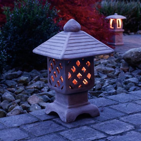 Terracotta-Gartenlaterne Hikari