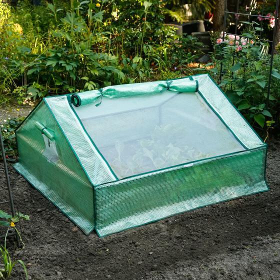 Folien-Frühbeet, Kunststoff, 120x120x60 cm