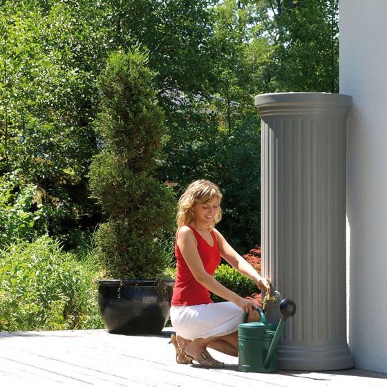Regenwassertank Säule 1000 Liter, steingrau